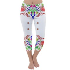 Holiday Festive Background With Space For Writing Capri Winter Leggings