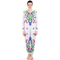 Holiday Festive Background With Space For Writing Onepiece Jumpsuit (ladies)