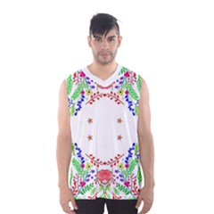 Holiday Festive Background With Space For Writing Men s Basketball Tank Top