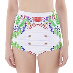 Holiday Festive Background With Space For Writing High-Waisted Bikini Bottoms