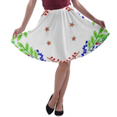 Holiday Festive Background With Space For Writing A Line Skater Skirt