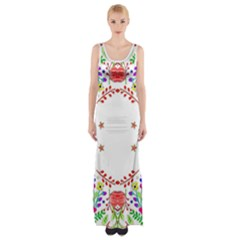 Holiday Festive Background With Space For Writing Maxi Thigh Split Dress