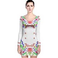 Holiday Festive Background With Space For Writing Long Sleeve Velvet Bodycon Dress