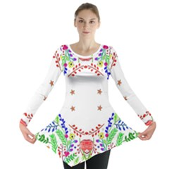 Holiday Festive Background With Space For Writing Long Sleeve Tunic