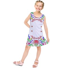 Holiday Festive Background With Space For Writing Kids  Tunic Dress