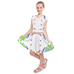 Holiday Festive Background With Space For Writing Kids  Short Sleeve Dress