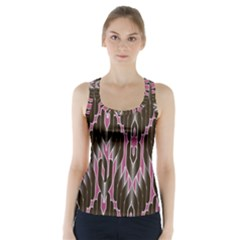 Pearly Pattern Racer Back Sports Top