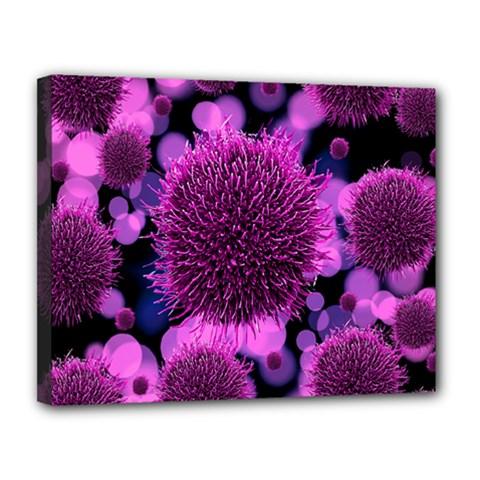 Hintergrund Tapete Keime Viren Canvas 14  X 11