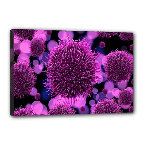 Hintergrund Tapete Keime Viren Canvas 18  X 12