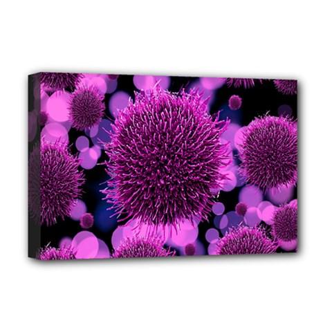 Hintergrund Tapete Keime Viren Deluxe Canvas 18  x 12