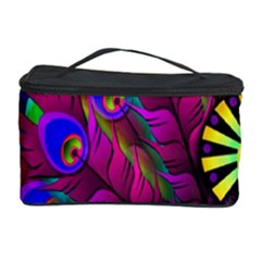 Peacock Abstract Digital Art Cosmetic Storage Case