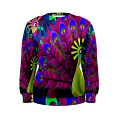 Peacock Abstract Digital Art Women s Sweatshirt