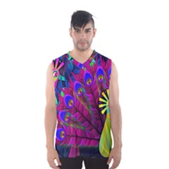 Peacock Abstract Digital Art Men s Basketball Tank Top