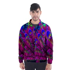 Peacock Abstract Digital Art Wind Breaker (Men)