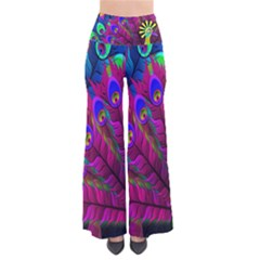 Peacock Abstract Digital Art Pants