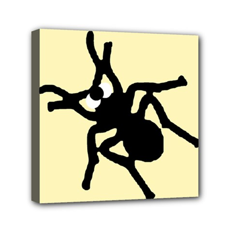 Crazy Bugs Lemon Mini Canvas 6  X 6