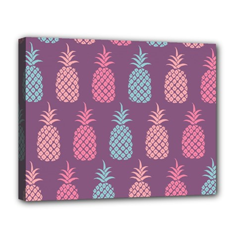 Pineapple Pattern  Canvas 14  x 11