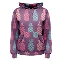 Pineapple Pattern  Women s Pullover Hoodie