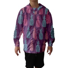 Pineapple Pattern  Hooded Wind Breaker (kids)