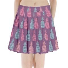 Pineapple Pattern  Pleated Mini Skirt