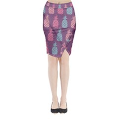 Pineapple Pattern  Midi Wrap Pencil Skirt