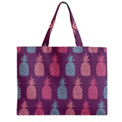 Pineapple Pattern  Medium Zipper Tote Bag