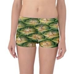 Pineapple Pattern Boyleg Bikini Bottoms