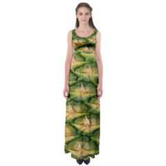 Pineapple Pattern Empire Waist Maxi Dress