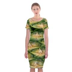 Pineapple Pattern Classic Short Sleeve Midi Dress