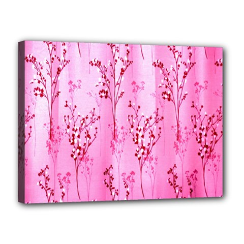 Pink Curtains Background Canvas 16  x 12