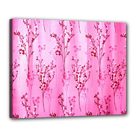 Pink Curtains Background Canvas 20  x 16