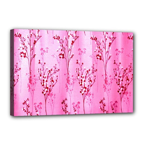 Pink Curtains Background Canvas 18  x 12