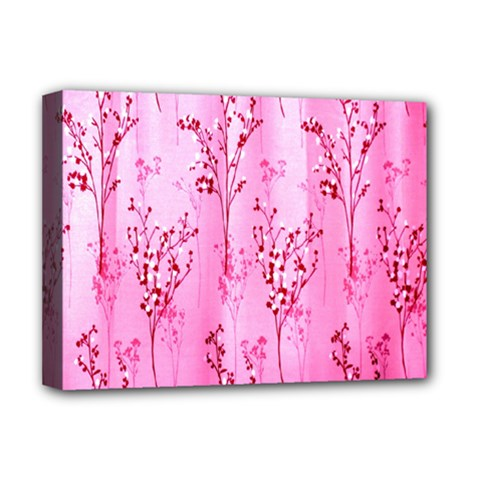 Pink Curtains Background Deluxe Canvas 16  X 12