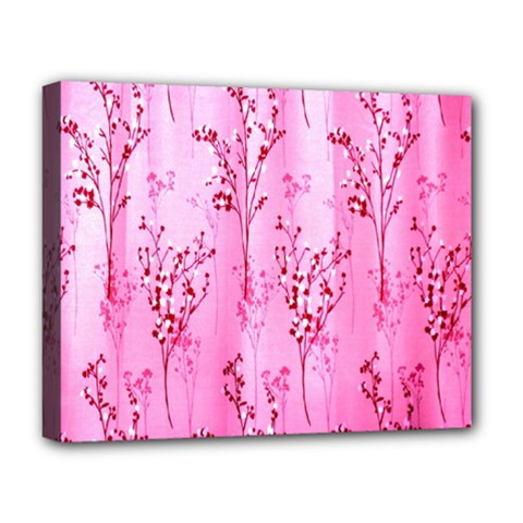 Pink Curtains Background Deluxe Canvas 20  X 16