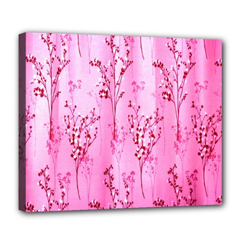 Pink Curtains Background Deluxe Canvas 24  x 20