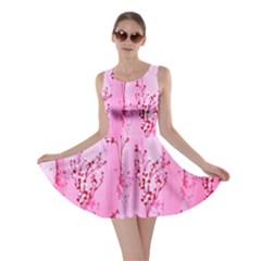Pink Curtains Background Skater Dress