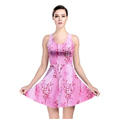 Pink Curtains Background Reversible Skater Dress