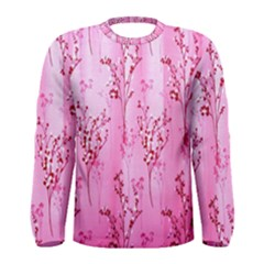 Pink Curtains Background Men s Long Sleeve Tee