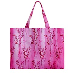 Pink Curtains Background Zipper Mini Tote Bag