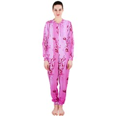 Pink Curtains Background Onepiece Jumpsuit (ladies)