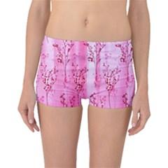 Pink Curtains Background Boyleg Bikini Bottoms