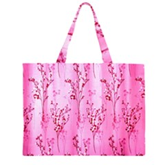 Pink Curtains Background Large Tote Bag