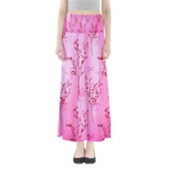 Pink Curtains Background Maxi Skirts