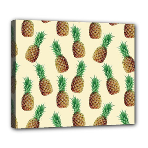 Pineapple Wallpaper Pattern Deluxe Canvas 24  x 20