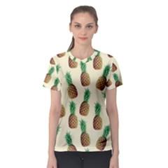 Pineapple Wallpaper Pattern Women s Sport Mesh Tee