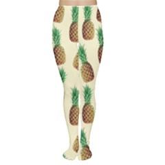 Pineapple Wallpaper Pattern Women s Tights