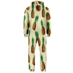 Pineapple Wallpaper Pattern Hooded Jumpsuit (men)