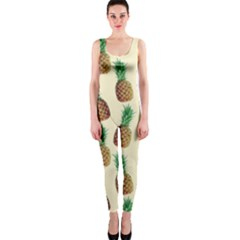 Pineapple Wallpaper Pattern Onepiece Catsuit