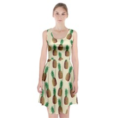 Pineapple Wallpaper Pattern Racerback Midi Dress