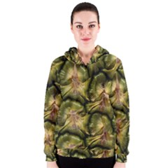 Pineapple Fruit Close Up Macro Women s Zipper Hoodie